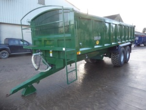 2016 Bailey Root Special 16T monocoque trailer, drop side, manual end door, sprung drawbar, front working platform, roll over sheet, 560/60R/22.5 tyres