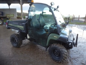 John Deere Gator XUV 855D diesel utility vehicle, full cab, sports seats, power lift cargo box, anti theft isolator, 1388 hours, YJ11 FPE
