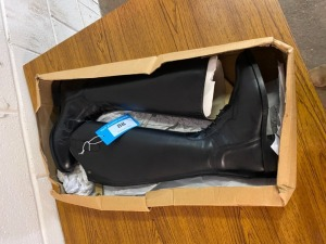 Size 5 long leather new riding boots