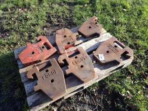 5 x 50kg Ford tractor weights